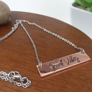 Good Vibes Necklace, 16 inches